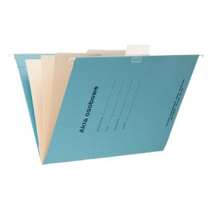 Teczka zawieszkowa SPIRAL Akta osobowe A4 niebieska opakowanie 10 sztuk