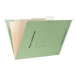Teczka zawieszkowa SPIRAL Akta osobowe A4 zielona opakowanie 10 sztuk