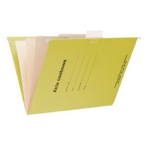 Teczka zawieszkowa SPIRAL Akta osobowe A4 żółta opakowanie 10 sztuk