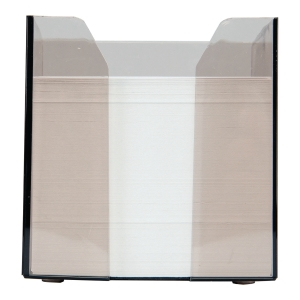 Pojemnik na wkłady papierowe, dymny z białym wkładem
