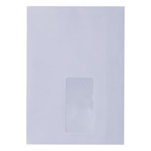 Koperty samoklejące Bong C5, 162x229 mm, białe, okno prawe, 50 sztuk