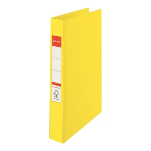 2-RING BINDER A4 35MM YELLOW