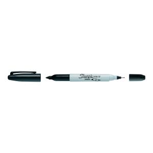 Marker permanentny SHARPIE Twin Tip, dwie grubości końcówkach, czarny