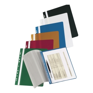IMPEGA HARD PUNCHED FILE PVC BLACK