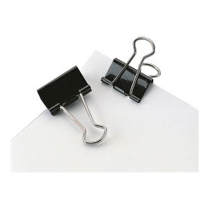 Fold-Back Paper Clips Black 41mm - Pack of 12