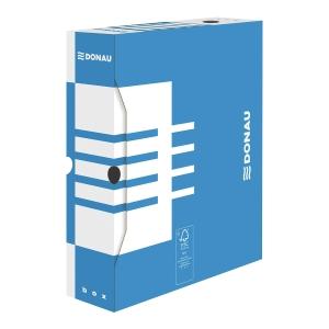 Karton archiwizacyjny DONAU, grzbiet 100 mm, niebieski