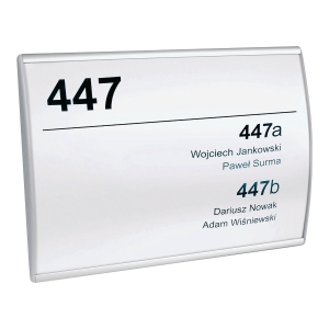 ASPRO 01108 WALLMONTED SIGN 210X148
