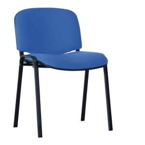 ISO BLACK C14 CONFERENCE CHAIR D/BLU