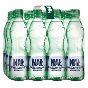 Woda mineralna NAŁĘCZOWIANKA gazowana, zgrzewka 12 butelek x 0,5 l