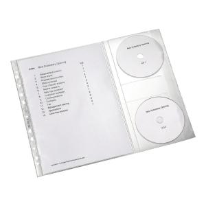Koszulka LEITZ na dokumenty i CD, w opakowaniu 5 sztuk