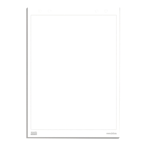 Blok do flipcharta 2x3, gładki, 99 x 66 cm, 20 kartek
