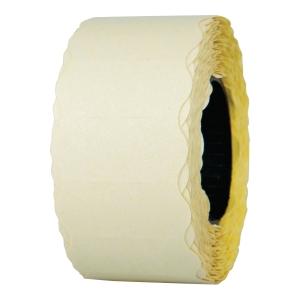 Etykiety, żółte, 26 x 12 mm, jednorzędowe, falowane, rolka 900 sztuk