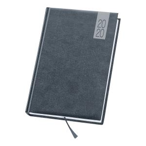 Kalendarz DAN-MARK Topaz A5, dzienny, szary