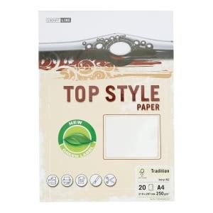 Papier ozdobny TOP STYLE Tradition, kolor kość słoniowa, 250 g/m?, 20 arkuszy