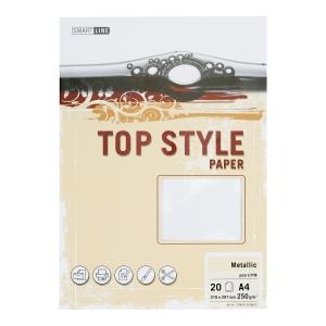 Papier ozdobny TOP STYLE Metalic, kolor perłowy, 250 g/m2, 20 arkuszy