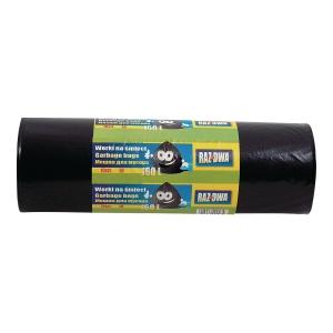 Worki na śmieci LDPE 160 l, czarne, 10 sztuk