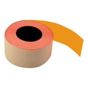 Etykiety do metkownic, pomarańczowe, 26 x 16, dwurzędowe, proste, rolka 700 szt