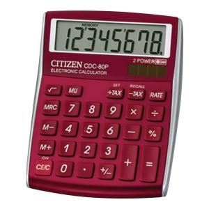 Kalkulator nabiurkowy CITIZEN CDC 80, burgund