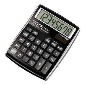 Kalkulator nabiurkowy CITIZEN CDC 80, czarny