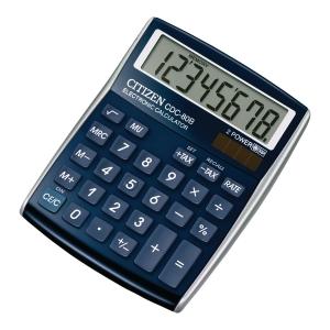Kalkulator CITIZEN SDC80, 8 pozycji, niebieski