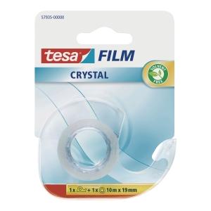Taśma klejąca TESA Film Crystal, przezroczysta, 19 mm x 10 m, na podajniku