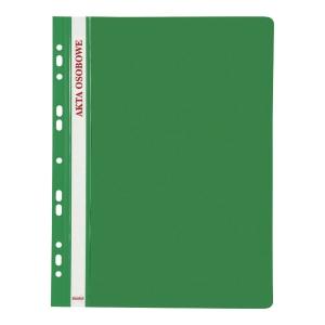 Skoroszyt BIURFOL Akta osobowe wpinany, zielony, opakowanie 10 sztuk