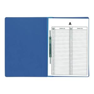 Skoroszyt BIURFOL Akta osobowe wpinany, niebieski, opakowanie 10 sztuk