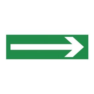 Znak  Kierunek drogi ewakuacyjnej , 100 x 300 mm