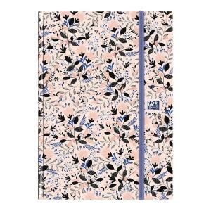 Kalendarz OXFORD Flowers A5, dzienny, miks kolorów