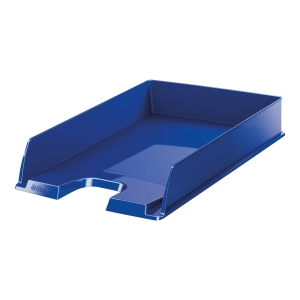 EUROPOST LETTER TRAY TRANSP NAVY BLUE