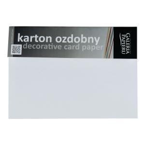 Karton ozdobny GALERIA PAPIERU A4, faktura płótna, biały 230g/m², 20 arkuszy