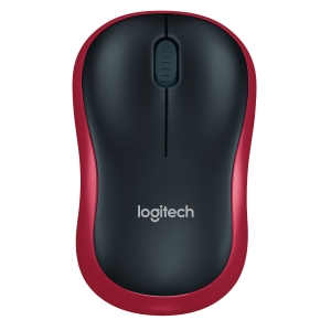 LOGITECH M185 MOUSE USB WIRELESS RED