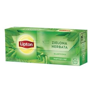 Herbata zielona LIPTON Classic, 25 torebek
