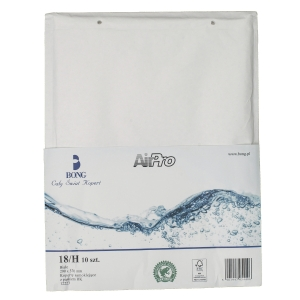 Koperty bąbelkowe AirPro® Bong 18/H białe, w opakowaniu 10 sztuk