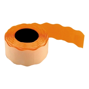 Etykiety do metkownic 26 x 16 mm, pomarańczowe, fala, rolka 700 sztuk