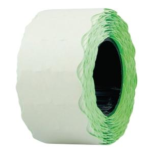 Etykiety do metkownic, zielone, 26 x 12, jednorzędowe, fala, rolka 800 szt