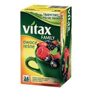 Herbata owocowa VITAX Family, owoce leśne, 24 torebki bez zawieszki