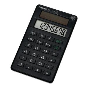 Kalkulator CITIZEN ECC-110 kieszonkowy, 8 pozycji