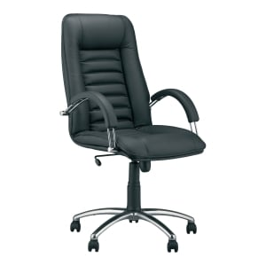 CARRERA MANAGEMENT CHAIR LEATHER BLACK