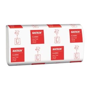 Ręczniki papierowe KATRIN CLASSIC składka V, 21 x 150 listków