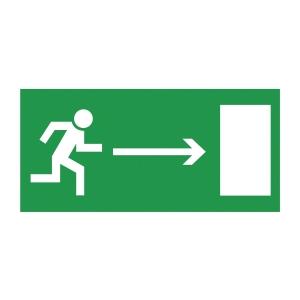 Znak  Kierunek do wyjścia drogi ewakuacyjnej w prawo , 150 x 300 mm