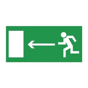 Znak  Kierunek do wyjścia drogi ewakuacyjnej w lewo , 150 x 300 mm
