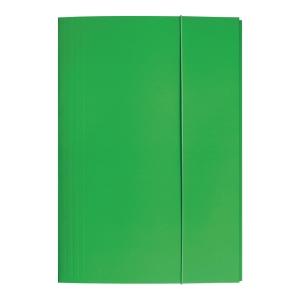 Teczka kartonowa BIGO z gumką A4 zielona