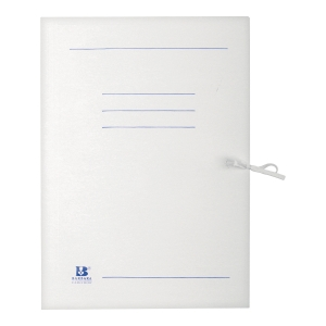 Teczka kartonowa wiązana BARBARA, A4, 250g, biała