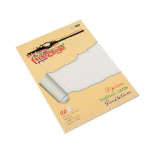 Ekologiczne papiery ozdobne FREE STYLE, struktura mały młotek, kolor: biały