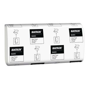 Ręczniki papierowe KATRIN BASIC składka V, 21 x 150 listków
