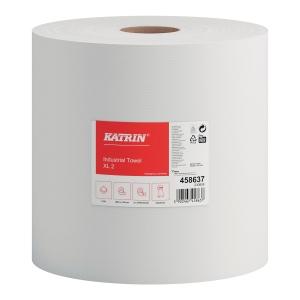 Czyściwo papierowe KATRIN, białe, 2 rolki