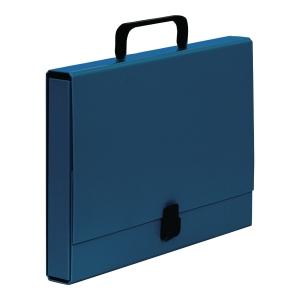 Teczka z rączką VAUPE Classic 40 mm niebieska