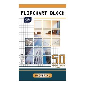 INTERDRUK FLIPCHART PAD PLAIN 50SHT