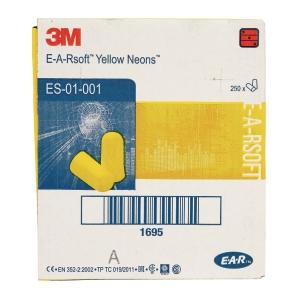 Wkładki przeciwhałasowe 3M, PD-01-002 żółte, 250 par
